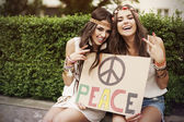 Peace board — Stock Photo