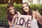 Beautiful boho girls — Stock Photo