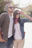 Couple in sunny day — Stock Photo