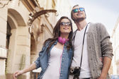 Hipster couple — Stock Photo