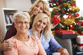 Family traditions during the Christmas — Stock Photo