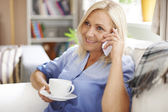 Relaxed mature woman — Stock Photo