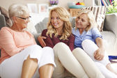 Woman's chatting and gossiping — Stock Photo