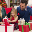 Young family on Christmas time — Stock Photo #51644449