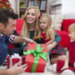Happy family during Christmas time — Stock Photo #51645421