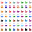 Stock Vector: File type icons - color