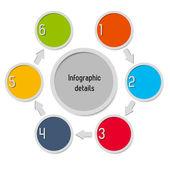 Infographik - 6 optionen — Stockvektor