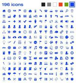 196 icons — Stock Vector