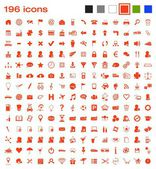 196 icons — Stockvector