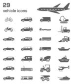 29 vehicle icons — Stock Vector