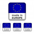 Made in Europe badge (6 languages) — Stock Vector #35904715