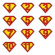 Superman numbers — Stock Vector