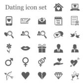 Dating icon set — Stock Vector