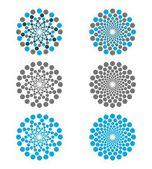 Abstract concentric circles - logo — Stock Vector