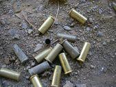 Bullets caps in the floor — Foto Stock