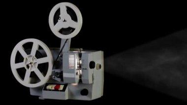 Retro cinema projector — Stock Video