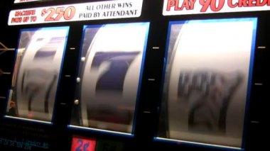 Real slot machine — Stock Video