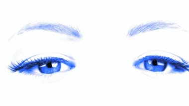Emotional movement of an eyes and eyebrowes — Stock Video