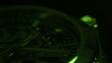 Green chronometer — Vídeo de stock