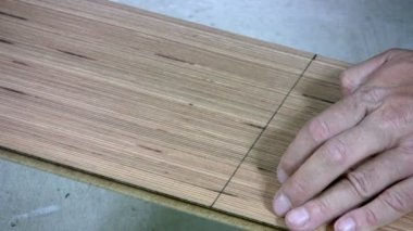 Sawing laminate — Stock Video