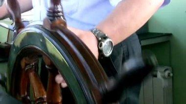 Steering Water-bus. — Stock Video