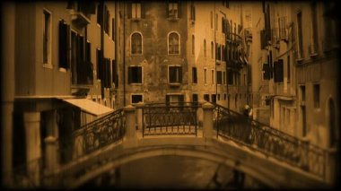 Canal in Venice. Old film Italy — Stock Video
