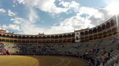 Before the bullfight. Timelapse — Stock Video