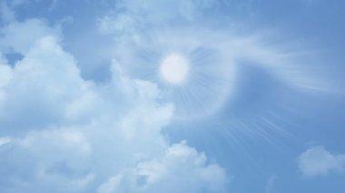 Gods eye watching from heaven — Stock Video
