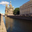 Saint-Petersburg. Church of the Savior on Blood. Timelapse — Stock Video