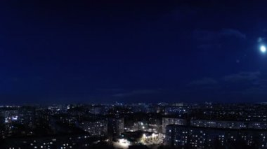 City evening. Timelapse — Stock Video