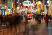 People on the Istiklal Street at Night — Stock Photo