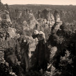 Bastei, View Over the Elbe Valley  — Stock Photo