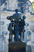 "Dresden Saxony - ""Figure on the Brühlsche Terrasse"" — Stock Photo"