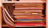 Folder with stack of document for filing — Stock Photo