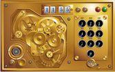 Fem till 12 steampunk uhr — Stockvektor