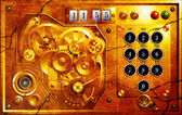 Fem till 12 steampunk uhr grunge — Stockfoto