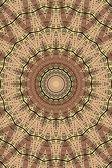 Kaleidoscope Darkbrown Star — Stock Photo