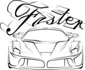 Racecar in tribals — Stock Vector