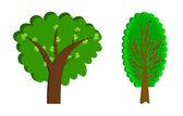 Abbildung reihe von bäumen — Stockfoto