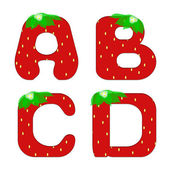 Illustration of strawberry letters of the alphabet — Foto Stock