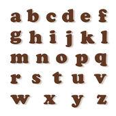 チョコレートの手紙 — ストック写真