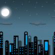 Illustration - night city. — Stock Photo #27749055