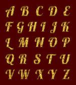 Yakut ile altın alfabesi. — Stok fotoğraf