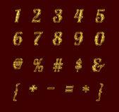 Altın sayı ve işaretler yakut. — Stok fotoğraf