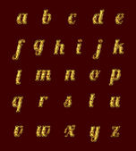 Golden alphabet with rubies. — Stok fotoğraf