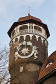Water tower - the symbol of the city Svetlogorsk (until 1946 Rauschen). Kaliningrad oblast, Russia — Stock Photo