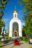 Chapel of St. Peter and Fevronia in Victory square. Kaliningrad (until 1946 Koenigsberg), Russia — Stock Photo