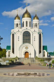 Cathedral of Christ the Savior - the main orthodox temple of the city. Kaliningrad (until 1946 Konigsberg), Russia — Stock Photo