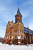 Koenigsberg Cathedral - Gothic temple of the 14th century. The symbol of Kaliningrad (until 1946 Konigsberg), Russia — Stock Photo