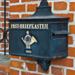 Old Germmailbox. Museum of World ocean. Kaliningrad (until 1946 Koenigsberg), Russia — Stock Photo #24491727